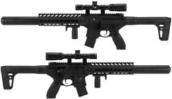 Sig Sauer Mcx Semi-auto Air Rifle With 1-4x32mm Scope Up To 750 Fps Co2 Powered