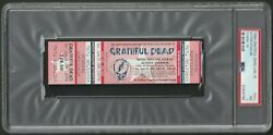 1994 Grateful Dead Full Ticket 6/19/94 Autzen Stadium Eugene Or Psa 7