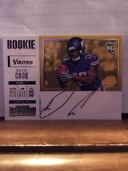 Dalvin Cook 2017 Panini Contenders Variation Rookie Ticket On Card Auto Vikings