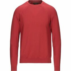 Mens Knit Sweater Tops Brick Red