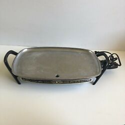 Vintage Farberware Electric Griddle Model 100 Immersible 18 X 12 Made In Usa