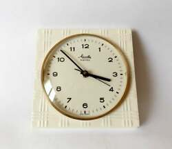 Vintage Pop Art Style 1970s Ceramic Kitchen Wall Clock Mauthe Made In Germany