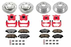 Power Stop Kc2798-36 Front And Rear Z36 Truck And Tow Brake Kit With Calipers