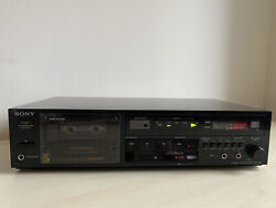 Sony Stereo Cassette Deck With 2 Mic Inputs Made In Japan Tc-r302