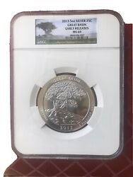 2013 5 Oz America The Beautiful Great Basin Ngc Ms69 Early Release