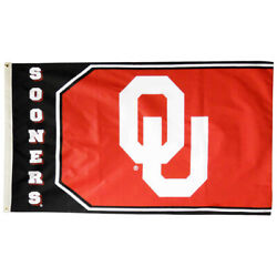 Gameday Outfitters University Of Oklahoma Sooners Flag 3 X 5 Logo And Name 80092