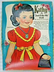 Kathy 2and039 1958 Paper Doll By Saalfield A Just-like-me Cardboard Doll Uncut