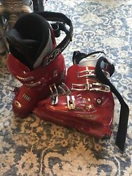 Mens Red Nordica Ski Boots 250 255 Size Pre Owned