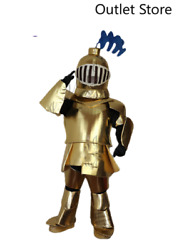 Halloween Cartoon Gold Soldier Mascot Costume Cosplay Party Carnival Outifit Ad