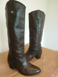 FRYE Jackie Button Brown Leather Tall Boots Size 9 B $40.00