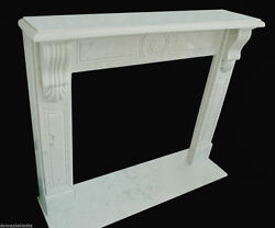 Cheminandeacutee Marbre Blanc Style Empire Marble Cheminandeacutee Handmade Vintage Empire Style