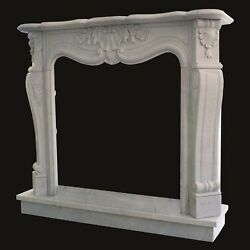 Cheminandeacutee Marbre Blanc Cadre Style Classique White Marble Classic Cheminandeacutee Cadre