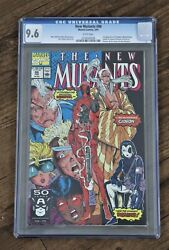 New Mutants 98 Cgc 9.6 Nm+ White Pages 1st / First Appearance Of Deadpool