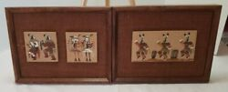 2 Native American Navajo Sand Paintings 13 X 10 Unsigned