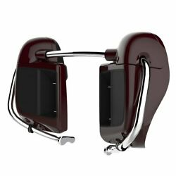 Billiard Burgundy Lower Vented Fairing 6.5and039and039 Speaker Pod Fits 14+ Harley Touring