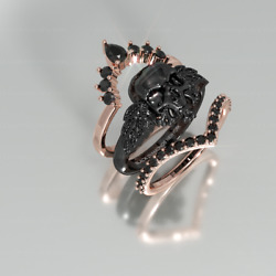 My Queen Ring/gothic Wedding Rings/skull Engagement Rings/unique Rings/gift Idea