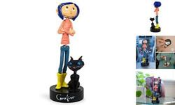 Coraline With Cat Dashboard Dancer Bobblehead   Collectible Action Figure