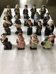 19 Vintage Royal Doulton Dickens Series Figurines-excellent Pre-owned Condition