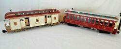 Bachmann G Nyc Line Observation And Nyc Fast Mail Car Lights, Metal Wheels, People