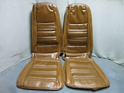 1970 Mustang Coupe Full Set Bucket Back Seat Cover Upholstery Repro Ginger
