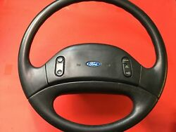 ✅ 1992-1997 Ford F150 F250 F350 Steering Wheel Non Air Bag Cruise Control Oem