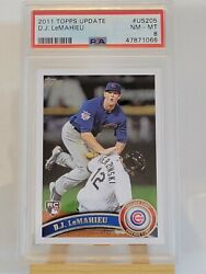 2011 Topps Update D.j. Lemahieu Rookie Rc Psa 8 Chicago Cubs Ny Yankees