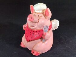 The Stone Bunny Inc. - Telle M. Stein Signed Color Pig Angel Chef Left - 2005