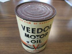 Vintage Veedol Motor Oil 1 Qt. Can The Film Of Protection Empty