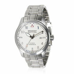 Bremont Solo Solo/wh/si Menand039s Watch In Stainless Steel