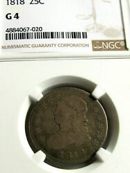 1818 Capped Bust Quarter, Ngc G4, Great Eye Appeal