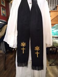 Reduced 10. Authentic Wwii Us Army Chaplainandrsquos Vestment Stole 900