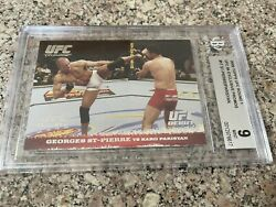 2009 Topps Round 1 Ufc 94 Exclusive Promo Debut Georges St-pierre - Bgs 9 Rookie