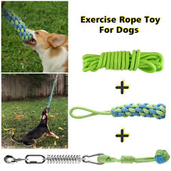 Exercise Rope Toy For Dogs Garden Spring Pole Muscle Builder Bite Resistant Us