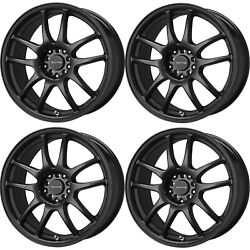 Drag Wheels Dr-31 18x9 5x100 5x114.3 Et28 Matte Black Rims For Mustang S2000