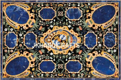 New Gemstone Table Top Counter Desk Inlaid Work Home And Office Decor 56 X 30