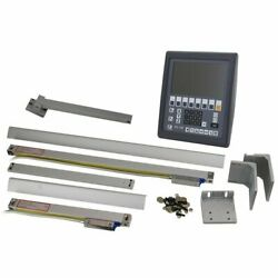 Dro Package With 3 Axis Lcd Display Console Easson Es-12b And 2 Optical Encoders