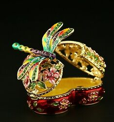 Faberge Egg Flowers With Dragonfly Trinket Box 2.8 St Peterburg, Russia