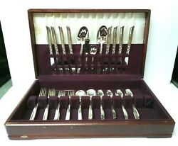 Vintage 52 Pcs 1955 Community Plate Oneida South Seas Silverplate Flatware Setandnbsp