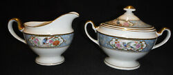 Bird Of Paradise Sugar Bowl And Creamer Hutschenreuther Selb Bavaria  Excellent