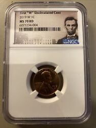 2019-w 1c Lincoln Shield Cent Ngc Ms70rd