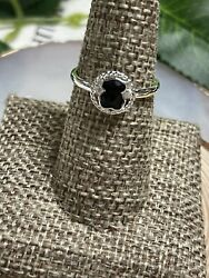 Tous Ring ✨ Camille Onyx Sterling Silver Size 8