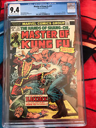 Master Of Kung Fu 17 - Cgc - Nm 9.4 - 3rd Appearance Of Shang-chi 1974