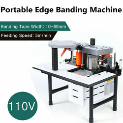 Portable Woodworking Edge Banding Machine 0.3-3mm Thick Bevel 10-60mm Width 110v