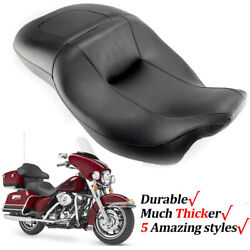 Driver Passenger Two-up Seat For Harley Ultra Classic Electra Glide Flhtcu 08-21