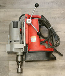 Milwaukee 4262-1 Magnetic Drill + 4203 3/4and039and039 Drill Unit Pre-owned Free Ship