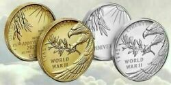End Of World War Ii 75th Anniversary 24-karat Gold Coin And Silver Medal Sealed