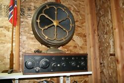 Early 1920and039s Crosley Model Xj Four Tube Radio Receiver W Atwater Speaker