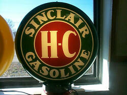 Gas Pump Globe Sinclair H-c Reproduction Glass Lenes In A Plastic Body New