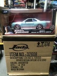 Jada Fast And Furious 1/24 Brianand039s Nissan Skyline Gt-r Bnr34 Light Green