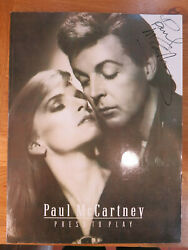 Paul Mccartney Signed Press To Play Music Book 1986 Genuine The Beatles